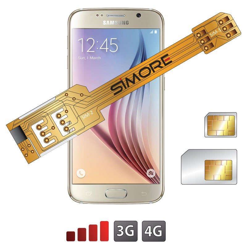 X-Twin Galaxy S6 Adaptateur double carte SIM pour Samsung Galaxy S6