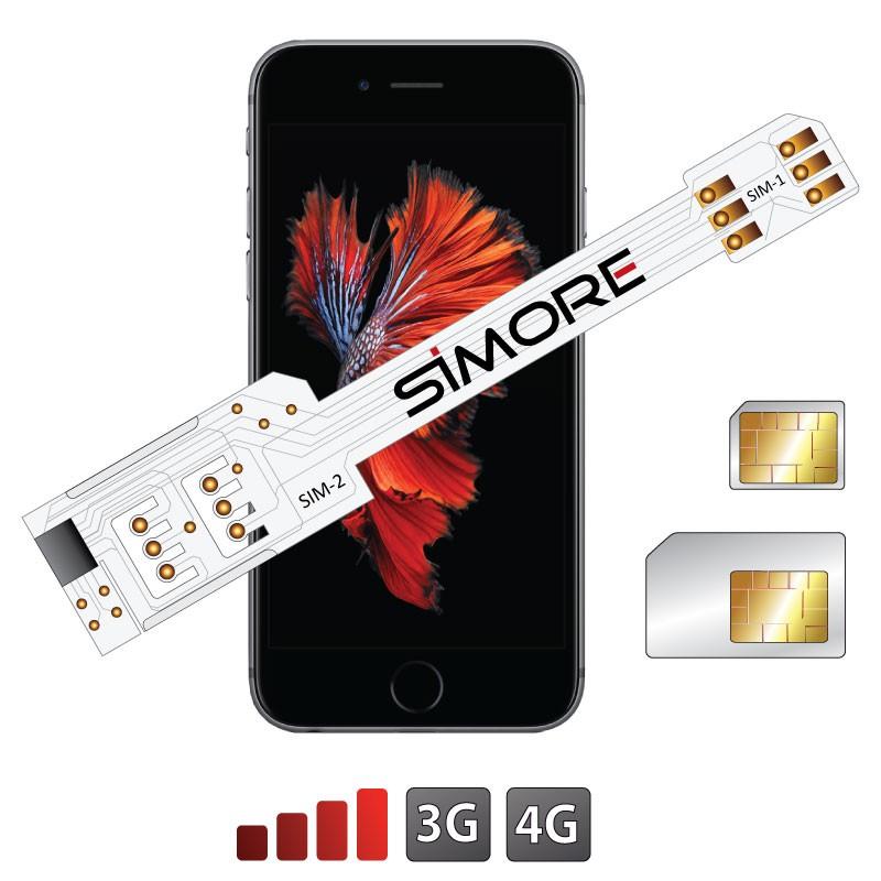 WX-Twin 6S Plus Coque adaptateur dual SIM pour iPhone 6S Plus