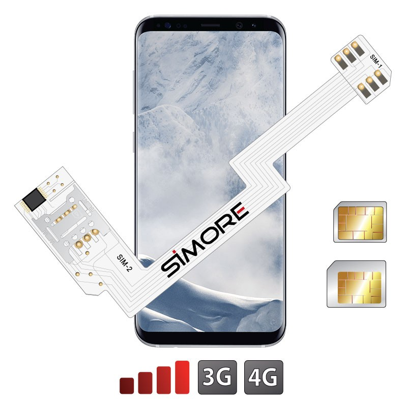 ZX-Twin Galaxy S8+ Adaptateur double carte SIM 4G pour Samsung Galaxy S8+