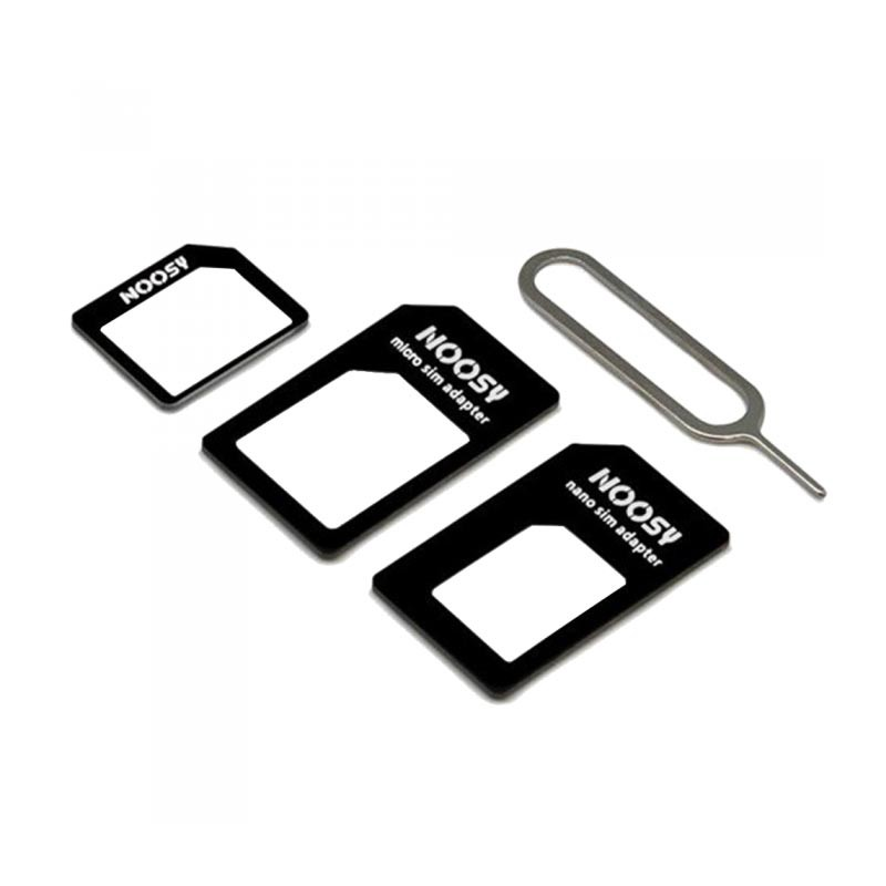 set d 39 adaptateurs noosy pour carte sim nano sim micro sim mini sim pour iphone 6 iphone 5. Black Bedroom Furniture Sets. Home Design Ideas