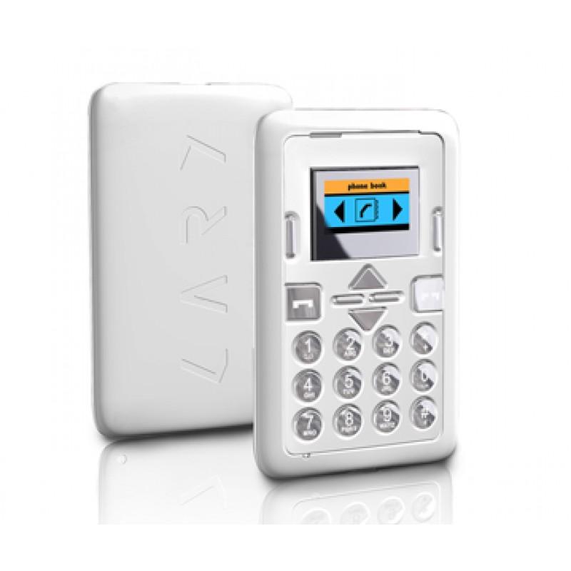 Mini Phone White - Mini téléphone mobile format carte de crédit