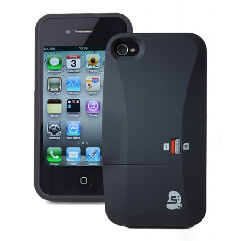 SIM2Be Case 4 Adaptateur double carte SIM pour iPhone 4 et iPhone 4S
