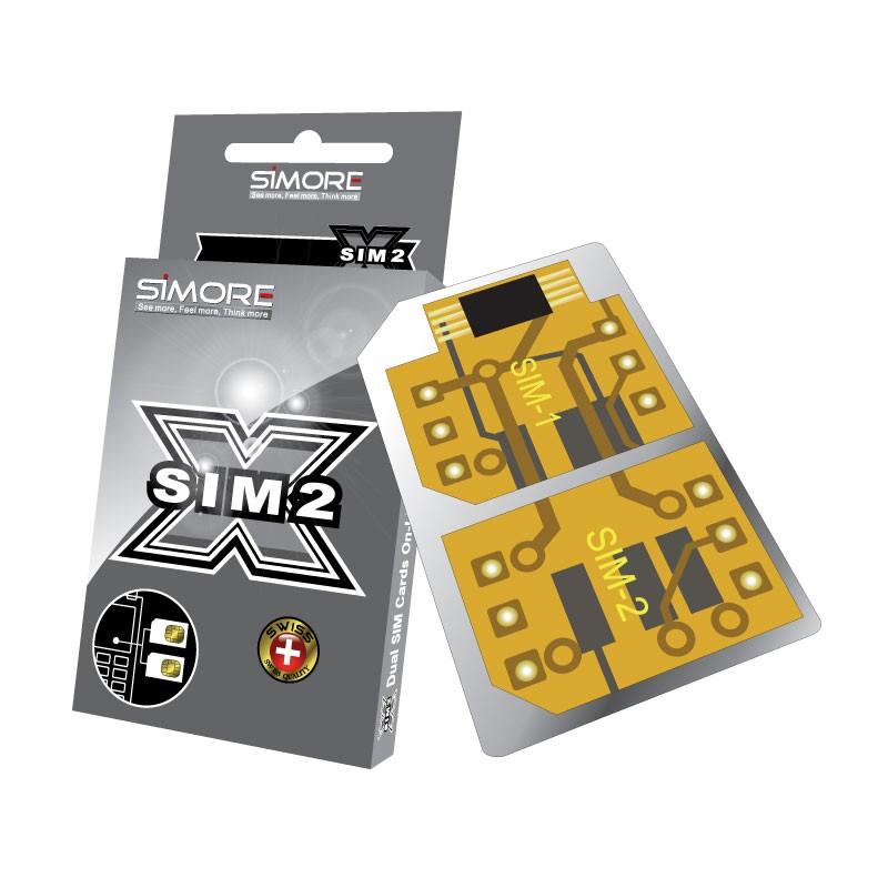 DualSim Silver 1 Adaptateur Double carte SIM pour téléphones mobiles