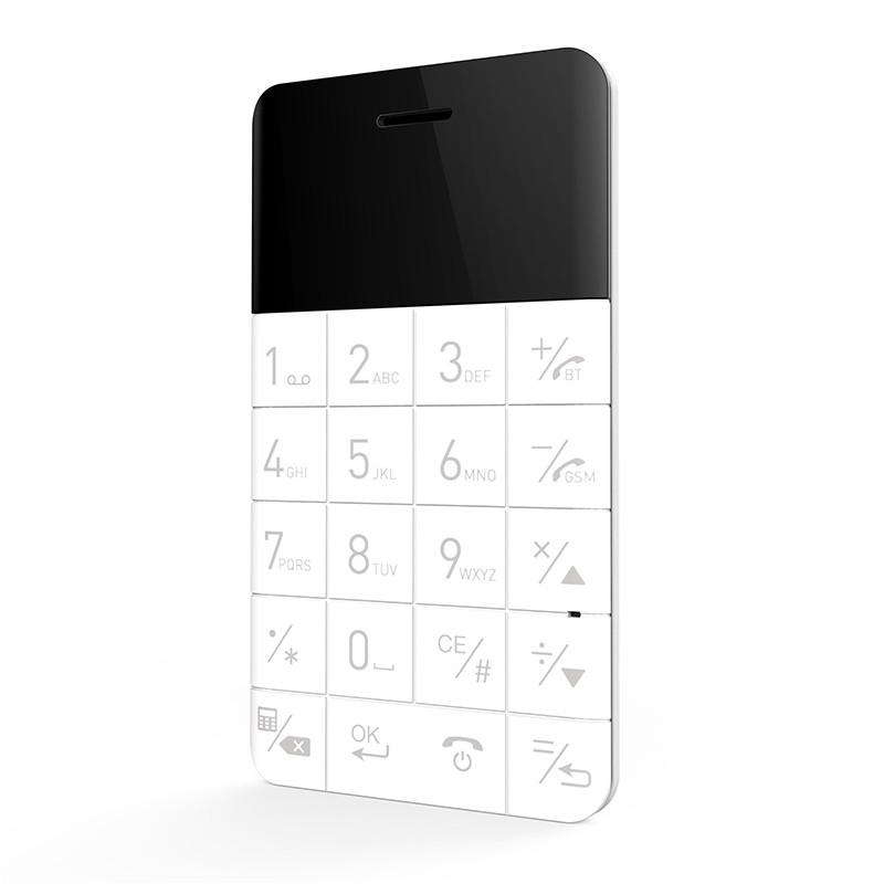Téléphone mobile format carte de crédit Talkphone White