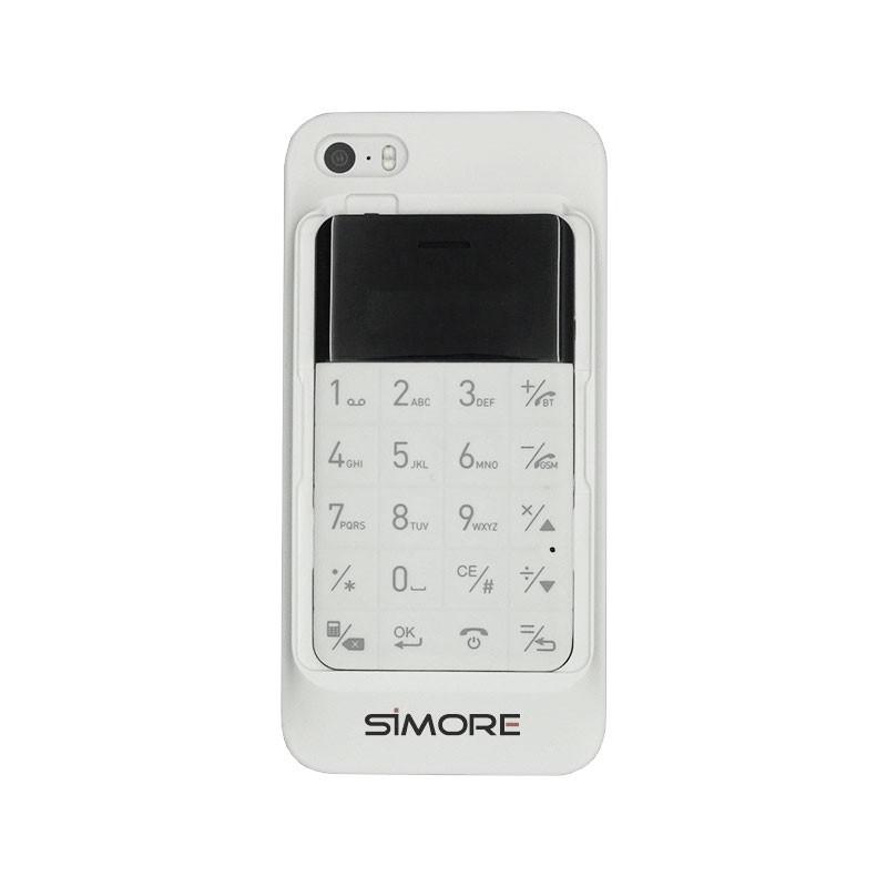 Talkase white coque adaptateur dual sim pour iPhone 5 et 5S
