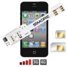 WX-Twin 4-4S Coque adaptateur dual SIM pour iPhone 4 et 4S