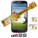 X-Twin Galaxy S4 Adaptateur double carte SIM pour Samsung Galaxy S4