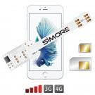 QS-Twin 6-6S Coque adaptateur dual SIM pour iPhone 6 et iPhone 6S