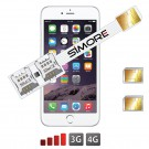 iPhone 6 Double SIM adaptateur 4G Speed X-Twin 6 pour iPhone 6
