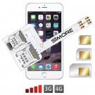 WX-Triple 6 Coque adaptateur triple double SIM pour iPhone 6