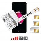WX-Triple 7 Plus Coque adaptateur triple double SIM pour iPhone 7 Plus