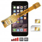 Coque adaptateur dual SIM pour iPhone 6 Plus