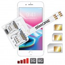 iPhone 8 Plus Triple Dual SIM adapter 3G 4G for iPhone 8 Plus
