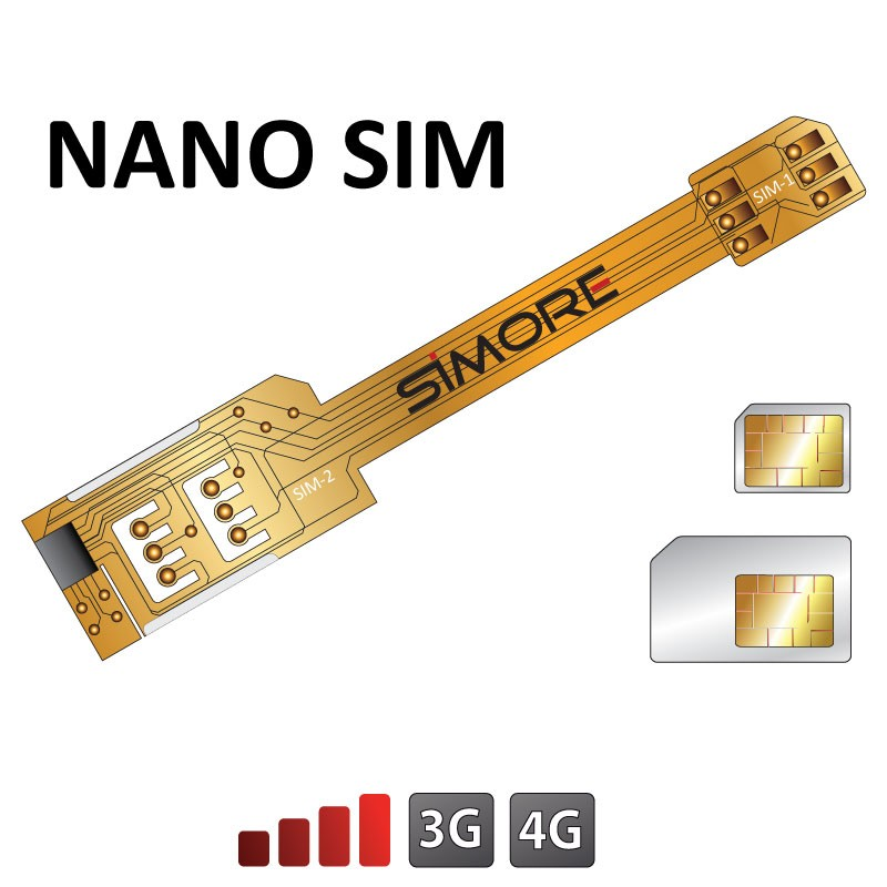 x twin nano sim doppel sim karten adapter 3g 4g f r nano. Black Bedroom Furniture Sets. Home Design Ideas