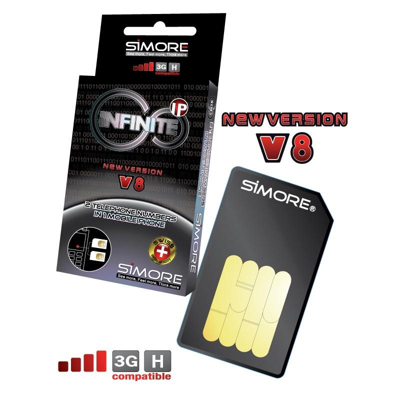 DualSim Infinite IP Adapter doppel SIM karte für Handys 3G und 4G