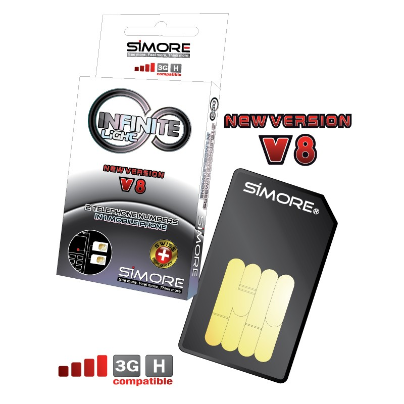 DualSim Infinite Light Adapter doppel SIM karte für Handys 3G und 4G