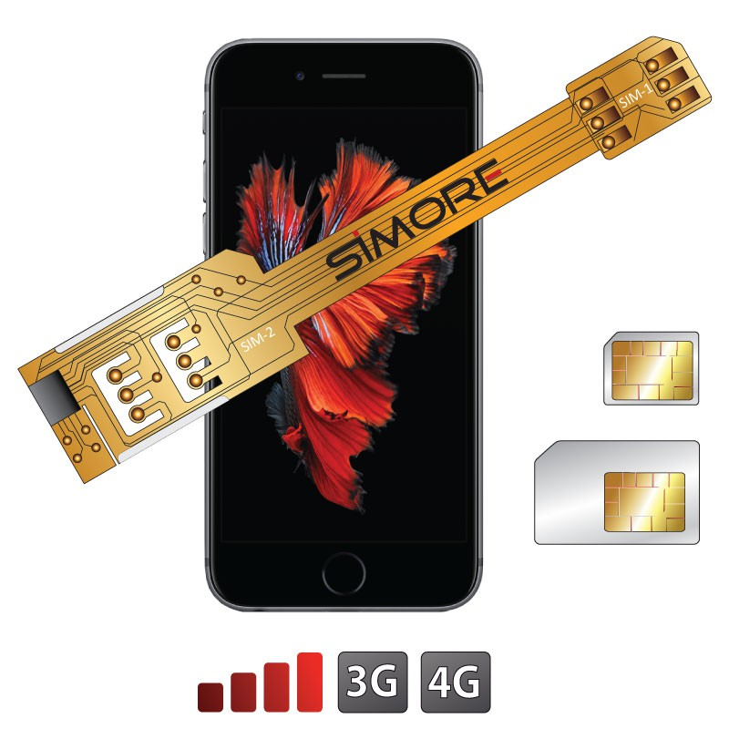 X-Twin 6S Plus Adapter doppel SIM karte für iPhone 6S Plus