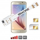 WX-Twin Galaxy S6 Adapter doppel SIM karte 4G für Samsung Galaxy S6