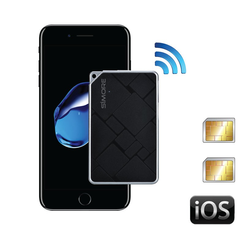 2Twin Bluetooth dual SIM attive transformer per iPhone iPad iPod touch Apple iOS