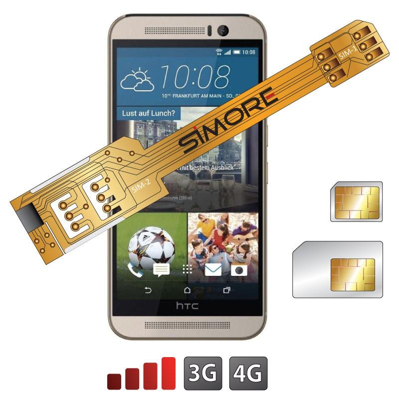 X-Twin One M9 Adattatore doppia scheda SIM per HTC One M9