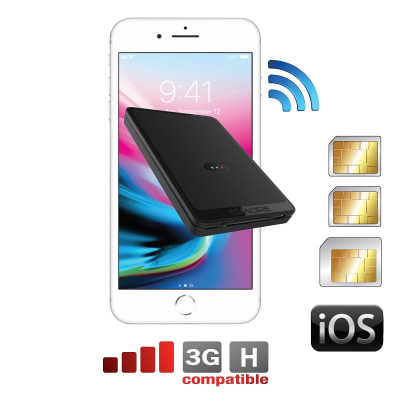 iPhone Triple doppia SIM adattatore bluetooth con Tre numeri attive contemporaneamente