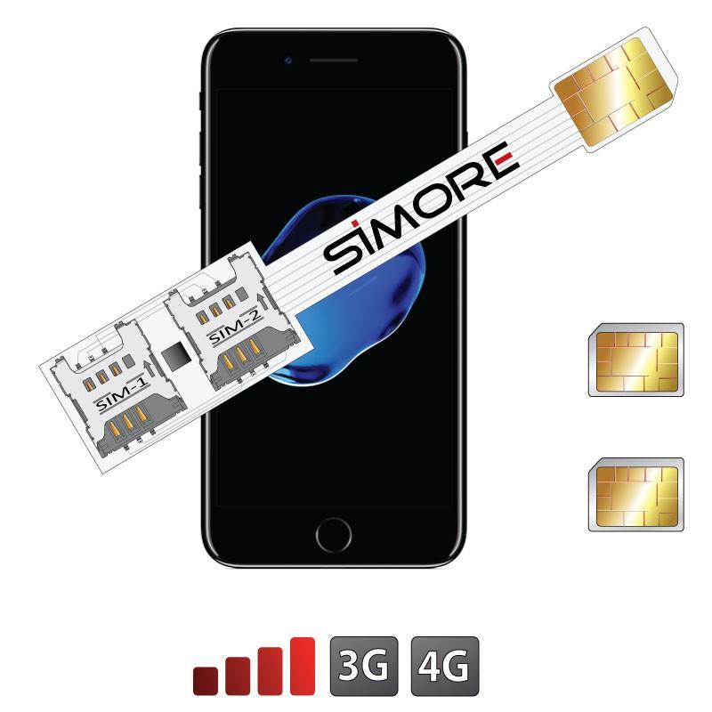 iPhone 7 Doppia SIM adattatore 4G Speed X-Twin 7 per iPhone 7