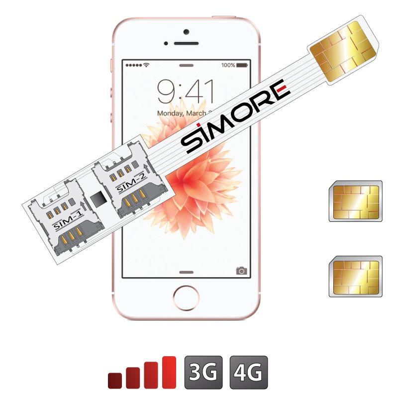 iPhone SE Adattatore Doppia SIM 4G Speed X-Twin SE per iPhone SE