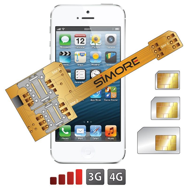 Adattatore triple doppia sim per iPhone 5S