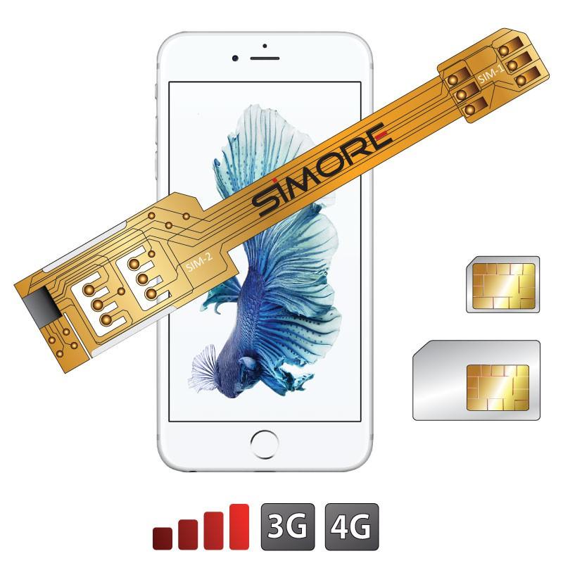 X-Twin 6S Adattatore doppia scheda SIM per iPhone 6S
