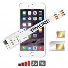 WX-Twin 6 Custodia Adattatore Dual SIM per iPhone 6