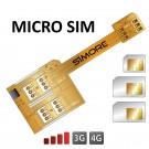 X-Triple Micro SIM Adattatore tripla doppia scheda SIM per smartphone micro sim