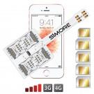 WX-Five SE Custodia Adattatore 5 SIMs multi doppia scheda SIM per iPhone SE