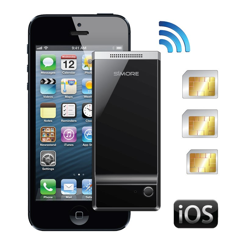 G1 BlueBox Adaptador dual y triple tarjeta SIM activa para Apple iPhone