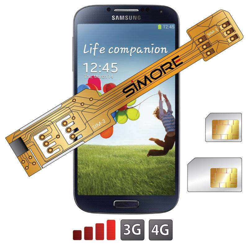 X-Twin Galaxy S4 Adaptador doble tarjeta SIM para Samsung Galaxy S4