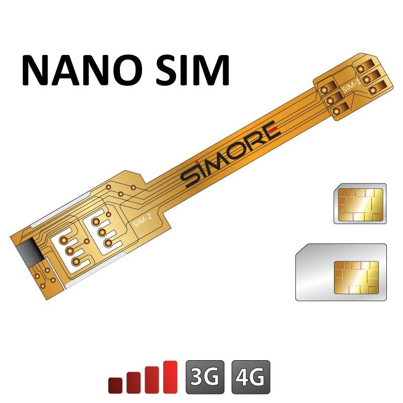 X-Twin Nano SIM Adaptador doble tarjeta SIM para smartphones nano sim