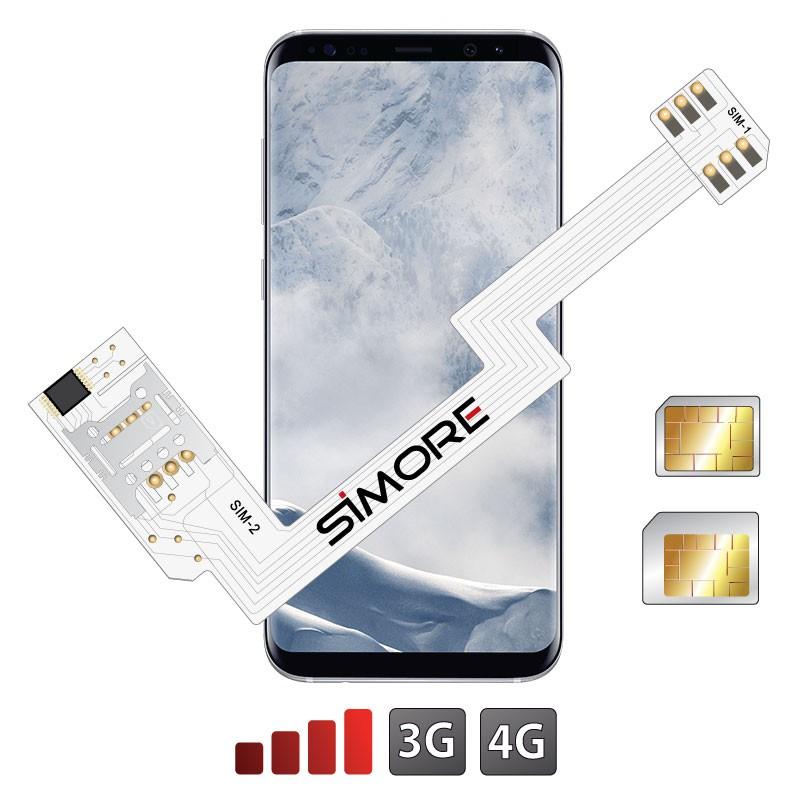 ZX-Twin Galaxy S8+ Adaptador doble tarjeta SIM 4G para Samsung Galaxy S8+