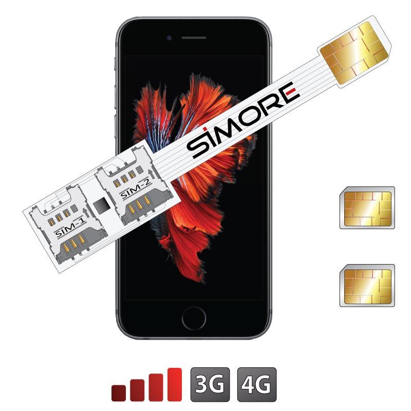 iPhone 6s plus Doble SIM adaptador Speed X-Twin 6s Plus para iPhone 6S Plus iOS