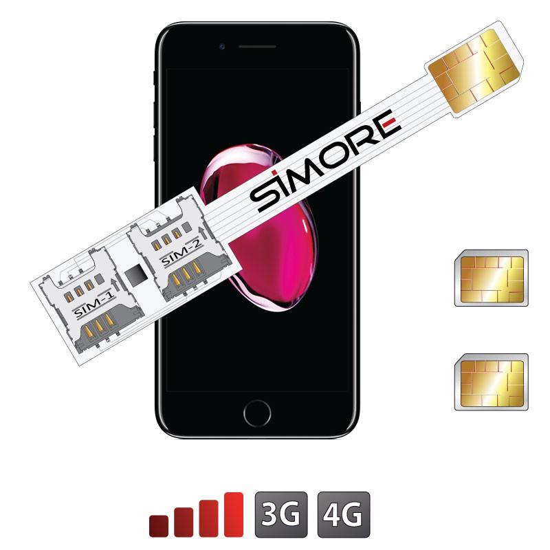 iPhone 7 Plus Doble SIM adaptador Speed X-Twin 7 Plus para iPhone 7 Plus