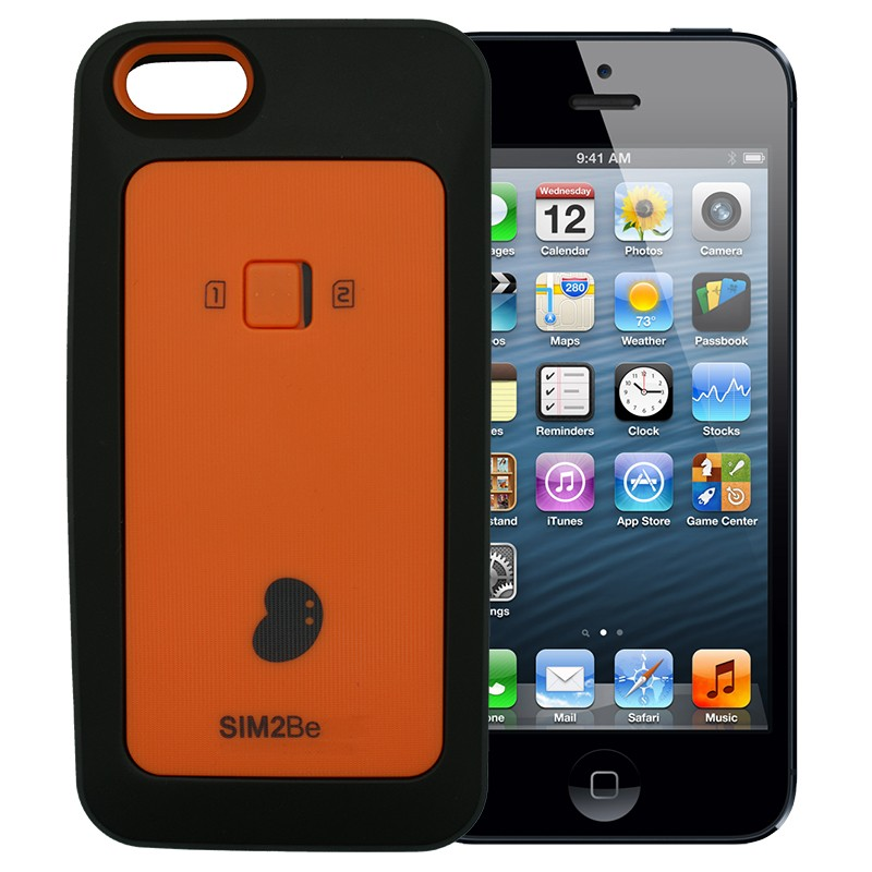 SIM2Be Case 5 Adaptador doble tarjeta SIM 3G 4G para iPhone 5 y iPhone 5S