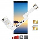 ZX-Twin Note8 Adaptador doble tarjeta SIM 4G para Samsung Galaxy Note8