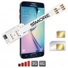 WX-Twin Galaxy S6 Edge Adaptador doble tarjeta SIM 4G para Samsung Galaxy S6 Edge
