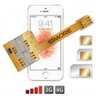 X-Triple SE Adaptador doble triple tarjeta SIM para iPhone SE