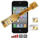 X-Twin 4 Adaptador doble tarjeta SIM para iPhone 4 y iPhone 4S