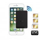E-Clip adaptador doble Triple SIM bluetooth y hotspot Wi-Fi router con tres números activos al mismo tiempo para iPhone