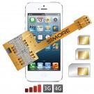 Triple doble sim adaptador para iPhone 5S