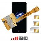 X-Triple 7 Adaptador doble triple tarjeta SIM para iPhone 7