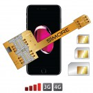 X-Triple 7 Plus Adaptador doble triple tarjeta SIM para iPhone 7 Plus