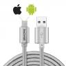 DualCable Micro-USB y Lightning conector para a la vez iPhone Apple iOS y Android dispositivos
