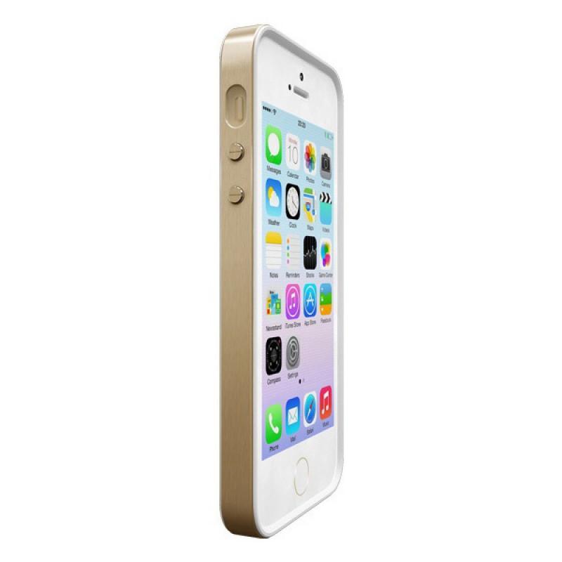 Coque contour de protection pour iPhone SE, iPhone 5 et iPhone 5S - Alloy X Mono Gold