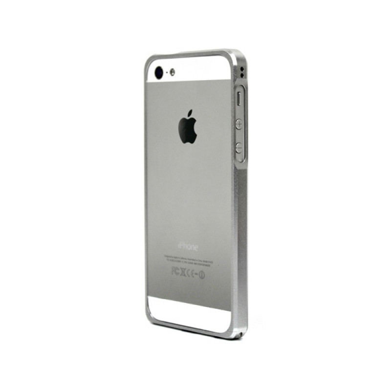 Bumper de protection Alloy X Silver pour iPhone SE, 5 et 5S